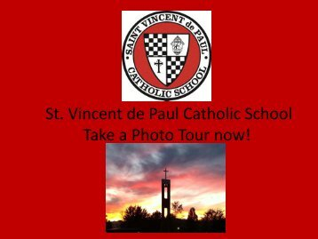 Download a PDF of the Tour - Saint Vincent de Paul Catholic School