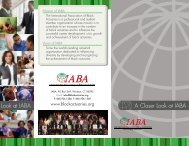 A Closer Look at IABA A Closer Look at IABA - The International ...
