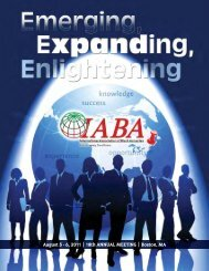 2011 Annual Meeting Program - International Association of Black ...