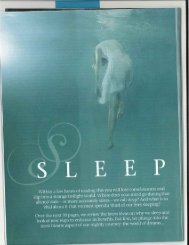 Sleep & Dreams from the New Scientist