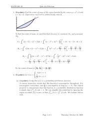 MATH 206–03 Quiz #4 Solutions 1. (8 points) Find the center of ...
