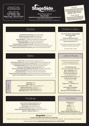 Starters Mains S ides Puddings Children's Menu Hot Drinks Grills ...