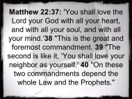 You shall love the Lord your God with all your heart, and with all ...