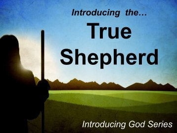 Introducing the… Introducing God Series