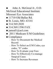 John A. McGreal Jr., O.D. McGreal Educational Institute Missouri Eye ...