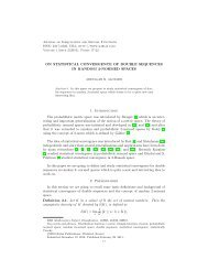 ON STATISTICAL CONVERGENCE OF DOUBLE SEQUENCES IN ...