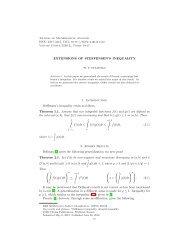 EXTENSIONS OF STEFFENSEN'S INEQUALITY 1. Steffensen's ...