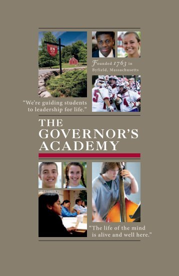 Online Admissions Overview - The Governor's Academy