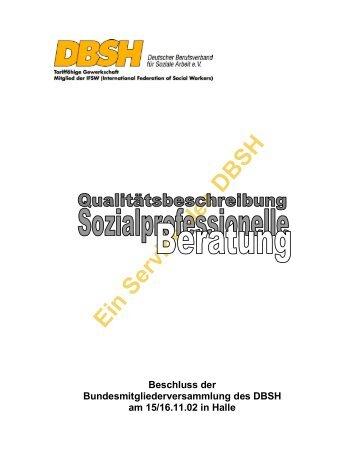 Qualität der Beratung - DBSH Hessen