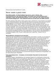 presseinformation - Gesundheits-Cluster