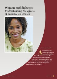 Women and diabetes: Understanding the effects of ... - CECity