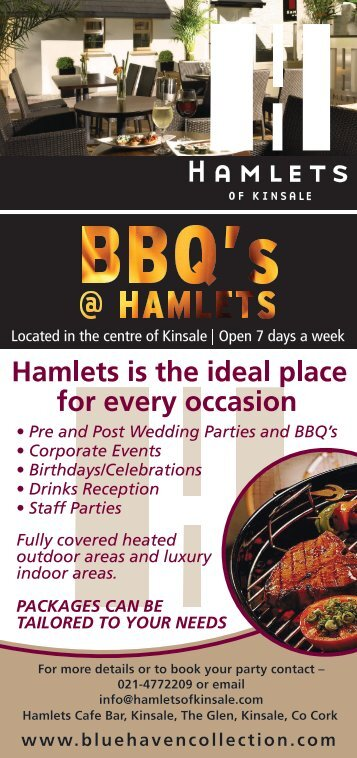BBQ Menu - Hamlets of Kinsale