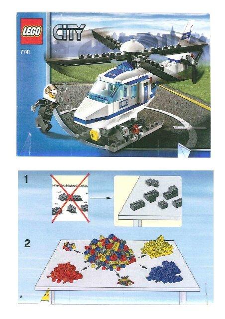 Lego City 7741 Lhelicoptere De Police Mes Notices De Jouets