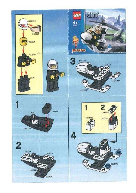 Lego City 4991 Lhelicoptere De La Police Mes Notices De Jouets