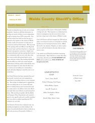 Waldo County Sheriff's Office - the Official Website for the County of ...