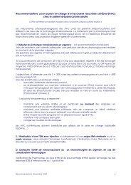 Recommandations de prise en charge AVC