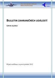 Bulletin zahraničních událostí - Ústav pro odborné zjišťování příčin ...
