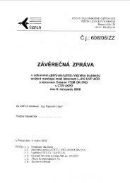 ČJ.: 608/06/ZZ - Ústav pro odborné zjišťování příčin leteckých nehod