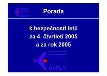 Rozbor - rok 2005 - Ústav pro odborné zjišťování příčin leteckých ...
