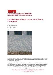 ANVISNINGER til Bygningsbevaring KALKNING  MED HVIDTEKALK ...