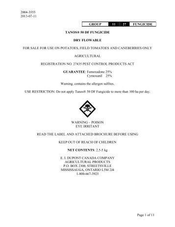 Tanos 50DF label english.pdf - Bartlett.ca