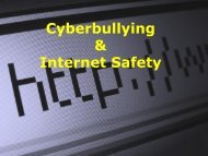 Cyberbullying & Internet Safety