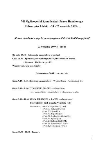 W załączeniu szczegółowy program zjazdu (PDF)