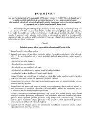 podmínky pro pověřování právnických osob dle §55b, odst.1, zák. 47 ...