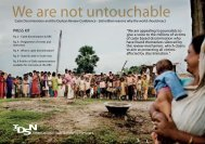 We are not untouchable - International Dalit Solidarity Network