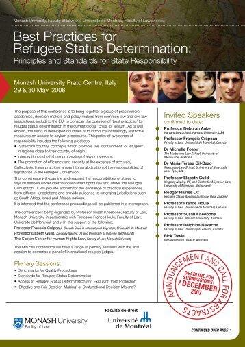 the flyer - International Association of Refugee Law judges