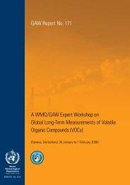 A WMO/GAW Expert Workshop on Global Long-Term Measurements ...