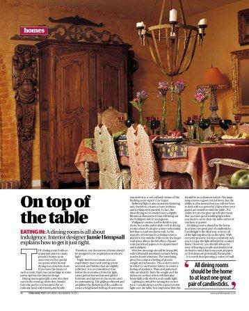 On top of the table - Jamie Hempsall Ltd