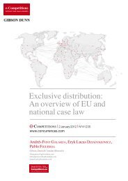 Exclusive distribution - Gibson, Dunn & Crutcher LLP