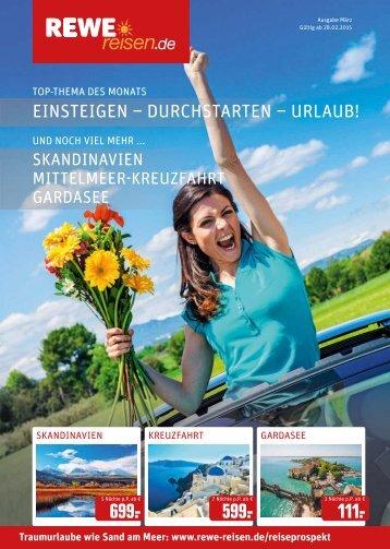 REWE Reisen Prospekt März 2015