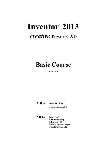 2013 creative Power-CAD Basic Course - Ingenieurbuero Armin Graef