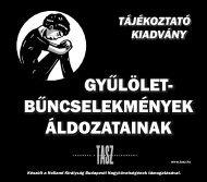 Tájékoztató kiadvány gyűlölet-bűncselekmények áldozatainak - TASZ