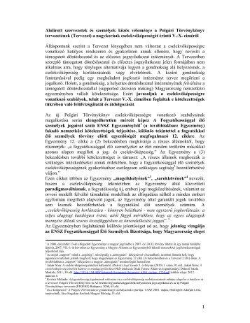 1 Alulírott szervezetek és személyek közös véleménye a ... - éfoész