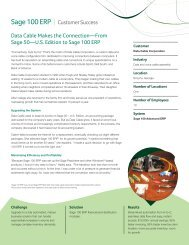 Data Cable Makes the Connection—From Sage 50—US Edition to ...