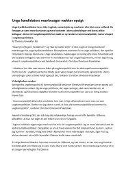 Unge kandidaters mærkesager vækker opsigt - Syddansk Universitet