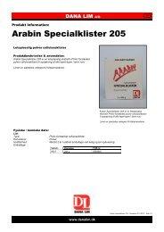 Arabin Specialklister 205 - Dana Lim A/S