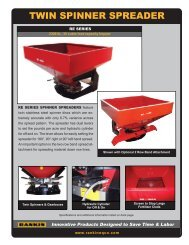 TWIN SPINNER SPREADER - Rankin Equipment Co.