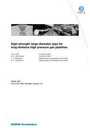 High-strength large-diameter pipe for long ... - Berg Steel Pipe