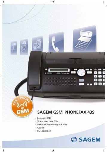 SAGEM GSM_PHONEFAX 43S