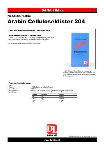 Arabin Celluloseklister 204 - Dana Lim A/S