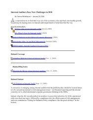 Internal Auditors Face New Challenges in 2010 - CBIZ