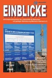 `Einblicke` 01/2009 - Lebenshilfe Märkisch-Oderland eV