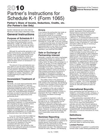 2003 Instructions For Form 1065 Schedule K 1