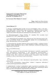 Navracsics Tibor közigazgatási és igazságügyi miniszternek ... - TASZ