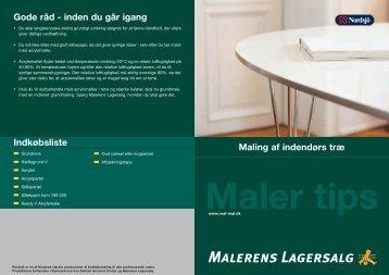 Maling af indendørs træ Gode råd - saedding-malerfirma.dk