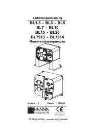 und Dosierpumpen HANNA BL (1,71 MB) - Zoo-Versandhaus.de